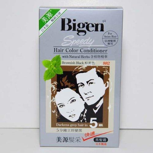 Brownish Black 882 - Bigen Speedy Hair Color Conditioner