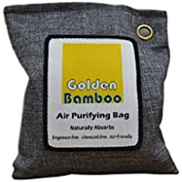 Golden Bamboo, Activated Charcoal 200g- Air Purifying Bag/ Odor Eliminating Drying Bag (Gray)