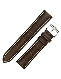 Hirsch Modena Brown Alligator Embossed Leather Watch Strap 103028-10-24