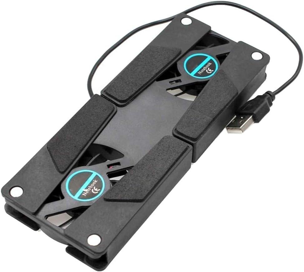 Aalborg125 Laptop Stand Laptop Desk Support Dual Cooling Fan Notebook Computer Stand USB Rack Holder Black