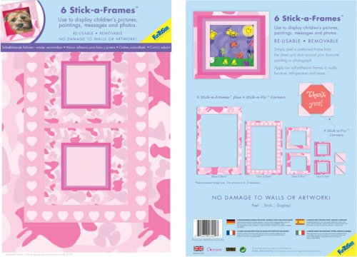 - FunToSee Camo Combo Picture Frame Decals, Pink