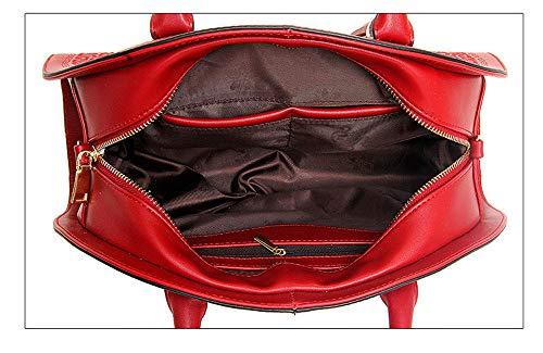 Borsa Shell Rilievo Stile A In Rosso Caratteristiche Ricamo Peonia Spalla Retro Xmy Signore Tracolla Cinese Femminile AEnpqdwaa