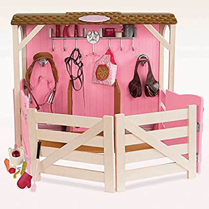 Our Generation Horse Barn Stable And Accessories Set For 18 Inch Dolls by Our Generation