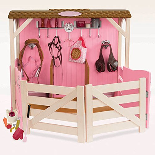 Our Generation Horse Barn Stable and Accessories Set for ...