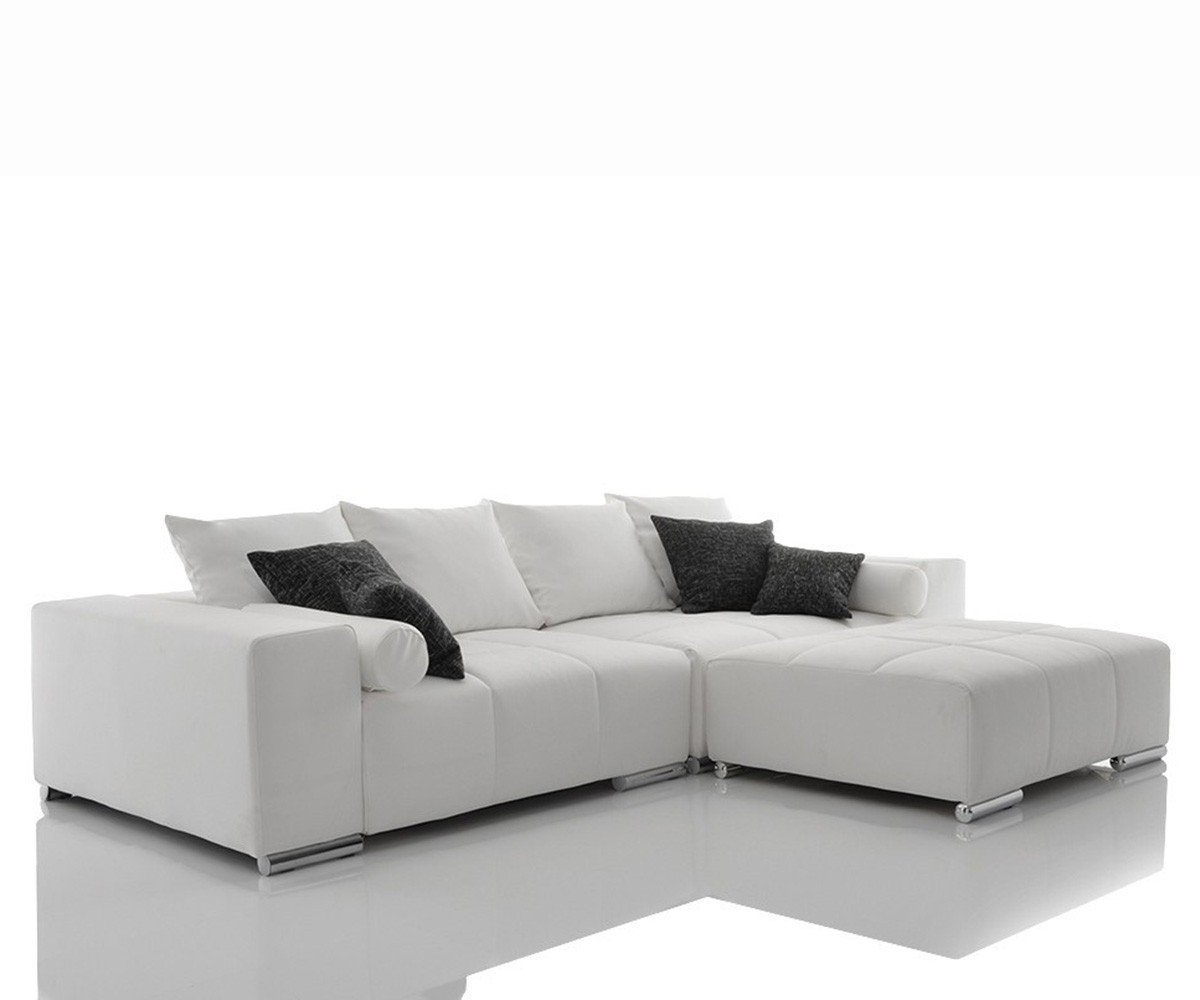 Bigsofa Marbeya Weiss Big Sofa Inklusive Sitzhocker Und Kissen Jetzt