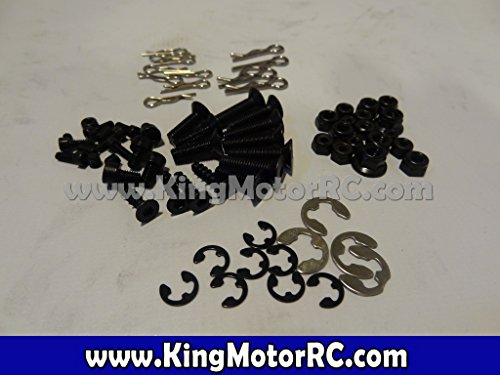 King Motor RC Spare Screw, Nut, Pins, E Clip Assortment Kit for HPI Baja 5B 5T 2.0 [Toy]