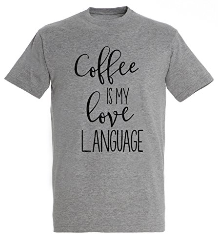 Coffee Design Theme - Coffee Is My Love Language Awesome Coffee and Food Theme Design Men Grey Melange T-shirt