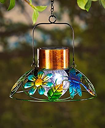 colorful solar garden lamp dragonfly
