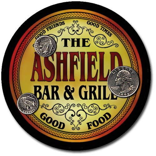 (Ashfield Family Bar and Grill Patriotic Rubber Drink Coaster Set )
