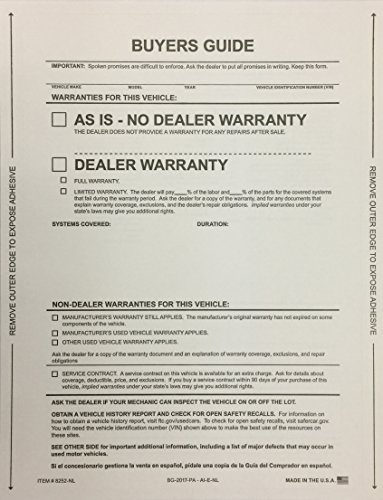 Buyer's Guide AS IS- No Warranty, No Lines, (100 Qty) (W28) by A Plus