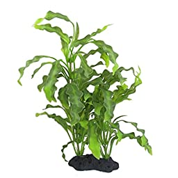 CNZ Aquarium Decor Fish Tank Decoration Ornament Artificial Plastic Plant Green (16-inch Java Fern)