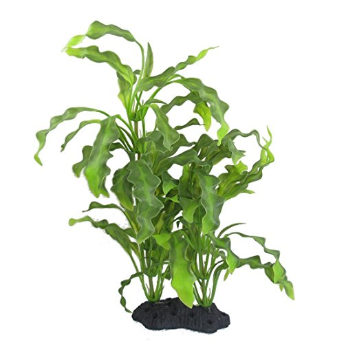 CNZ Aquarium Decor Fish Tank Decoration Ornament Artificial Plastic Plant Green (16-inch Java Fern) (Plastic Aquarium Plant)