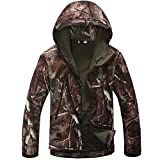 TAD V 4.0 Lurker Shark Skin Soft Shell Outdoor Hunting Camping Waterproof Windproof Jacket Tactical Sports Coat Army Clothing (Tree Camo, XL)