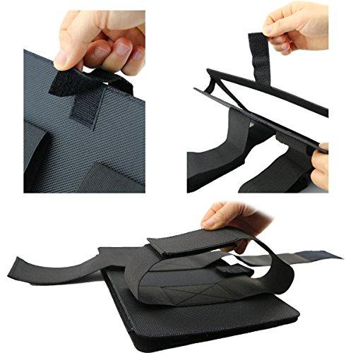 Car DVD Player Holder, Portable RevoLity 7-10.5 Inch Car DVD Headrest Mount Holder Strap Case Color Black (10-10.5 Inch) by RevoLity (Image #3)
