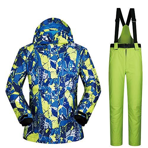 Jacket Men's Ski Waterproof Thickened Warm H Trousers rOq5xwdtO