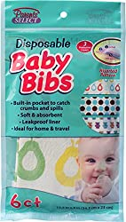 Ddi - 6Ct Disposable Baby Bibs No Mess Feeding Cover (1 pack of 24 items)