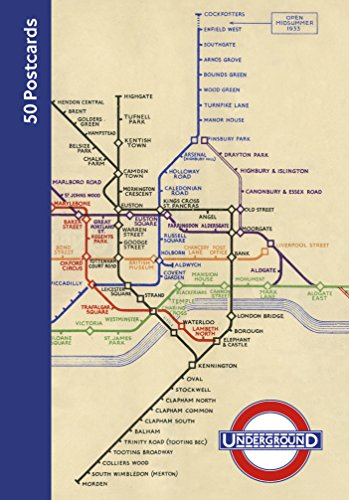 London Underground 50 Postcards
