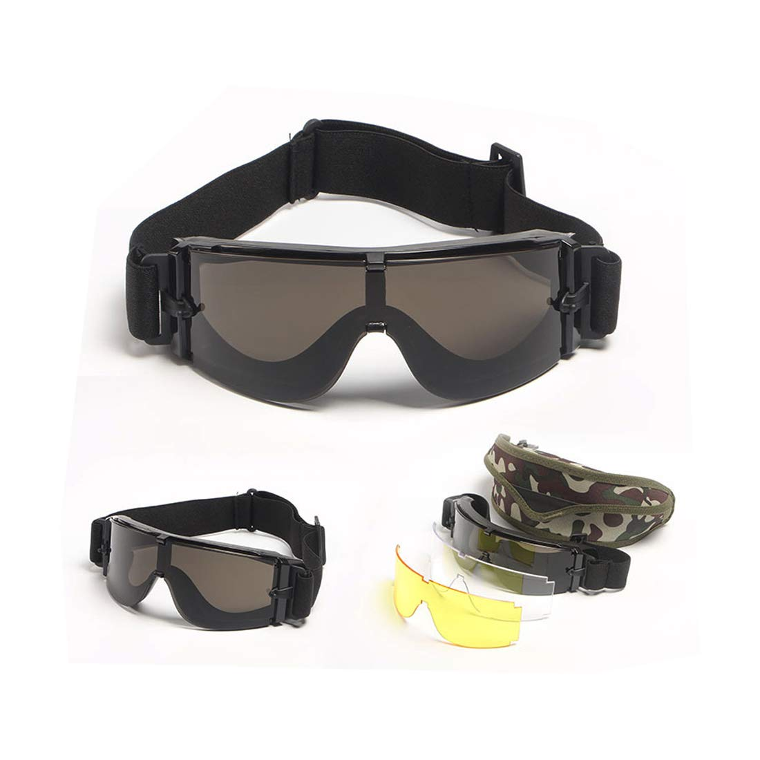 spiid メンズ  X800 Military Goggles B07HMYMHHC