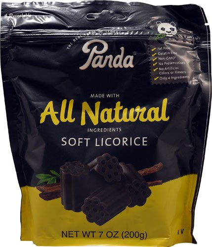 Panda All Natural Soft Licorice, 7 Oz. (Pack of 2)