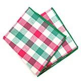 Boxed-Gifts Men's 6pc Summer 100% Cotton Handkerchiefs