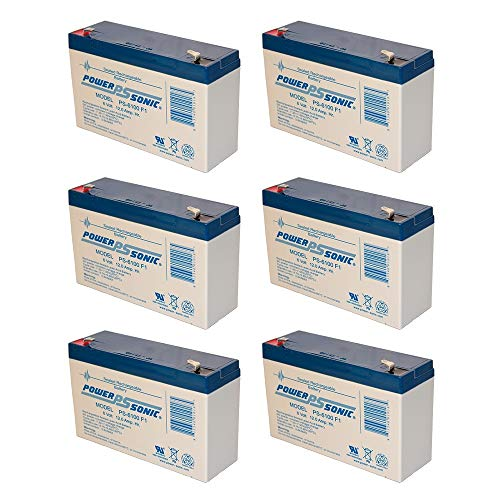 PS-6100 6V 12AH F1 Rechargeable Battery - 6 Pack by Power Sonic (Image #1)