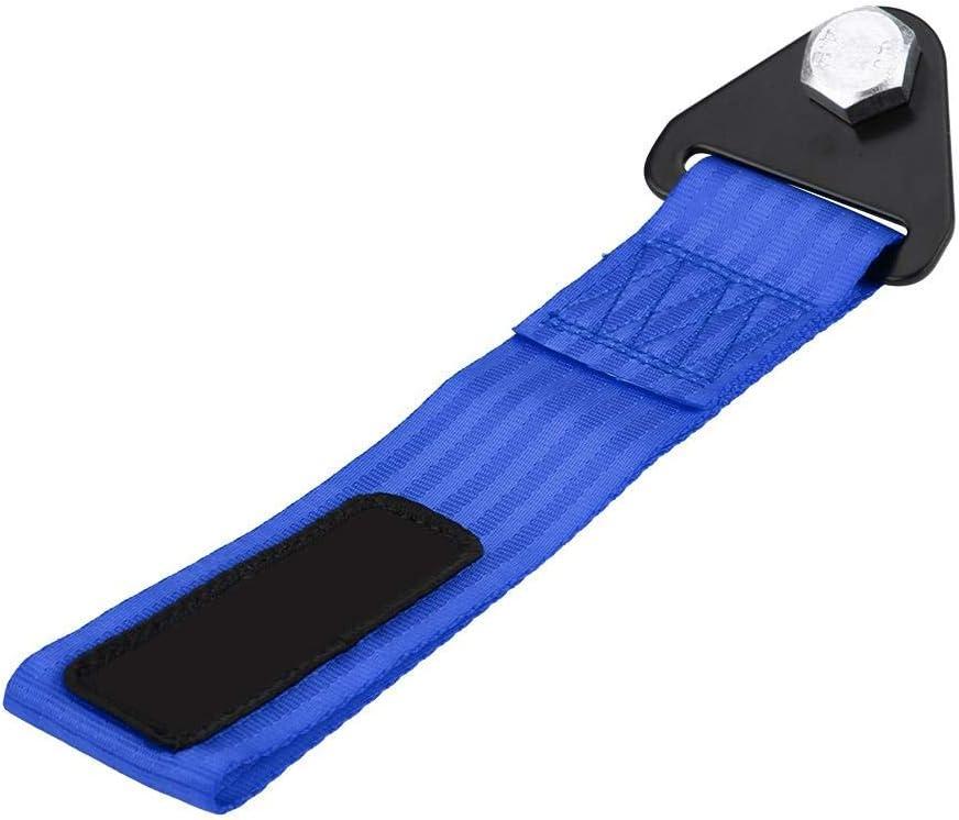 Blu fune di traino universale per auto da corsa ad alta resistenza Corda di traino per gancio di traino paraurti anteriore posteriore Qiilu Cinghia di traino per auto da corsa