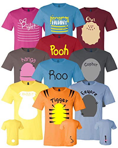 Pooh & Friends Inspired Shirt Adult Unisex Sizes - Halloween Cosplay Costumes For Cruises, Family Trip and Group Event Shirts -