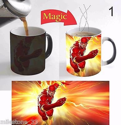 Marvel Superhero Flash Kids Cartoon Magic Mug Color Change Coffee Mug 11 Oz Gift
