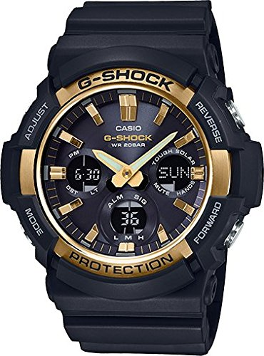 Casio GAS100G-1A G-Shock Tough Solar Men's Watch Black 55.1mm Resin/Aluminum case Black Resin Case