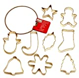 Kaiser Bakeware Patisserie Christmas Cookie Cutter Rings, Set of 9, Plus Storage Ring