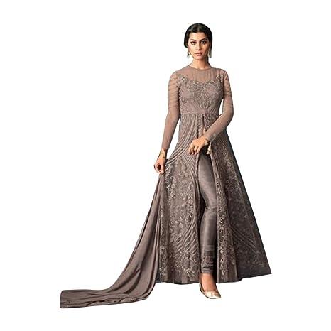 brand new 12ccd ad2ce Ricamo pesante netto di designer indiano Abito da cerimonia ...