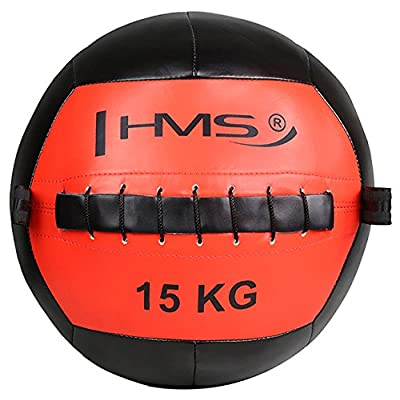 Image of HMS Unisex's 17-41-030 5907695518320 Exercise Wall Ball, Red/Black, One Size Basketballs