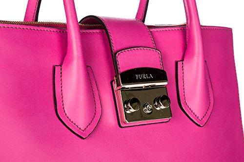 Leder Tasche Damen metropolis fuxia Furla Bag Handtasche fx6S0O