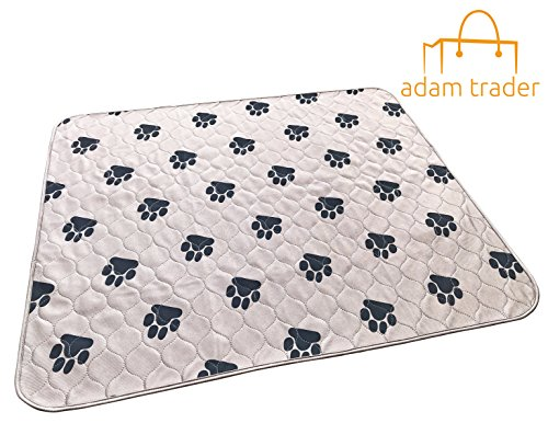 AdamTrader Washable Pet Pee Training & Whelping Pad (XLarge 28 x 32 Inches) comfortable, reusable and waterproof for your favorite pet by AdamTrader