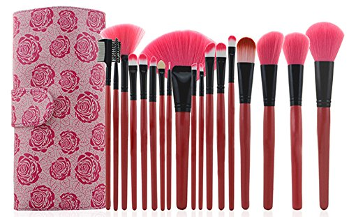 Xaestival Professional 11 Pieces Makeup Brushes Set with Hot Pink Case