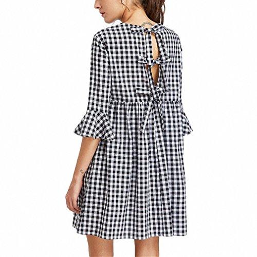 White Gingham Dress - 5