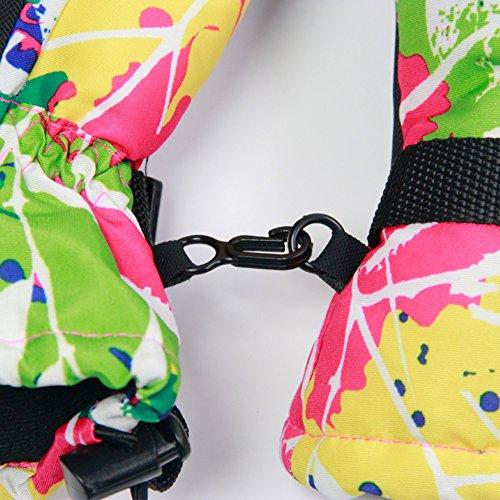 SE7VEN Gants De Dames,Hiver Épaissir Avec De La Laine Protégeant Du Vent Eau Plein Air Gants De Ski Gants Déquitation Thermique rose