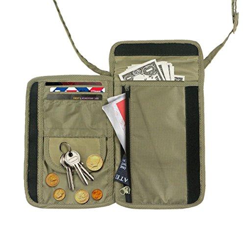 Neck-Pouch-Money-Belt-Wallet für Reisepass, zum Tragen und Verstecken von Wertsachen