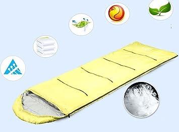 Nola Sang Ultralight Sleeping Bag Portátil Cadena de Montaña Viaje Saco de dormir transpirable para adultos acampar y diversión interior , yellow: ...