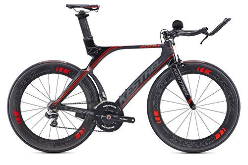 Kestrel 4000 Shimano Dura Ace DI2 Bicycle, Black/Red, 55cm/Medium Advanced Sports International - Bike