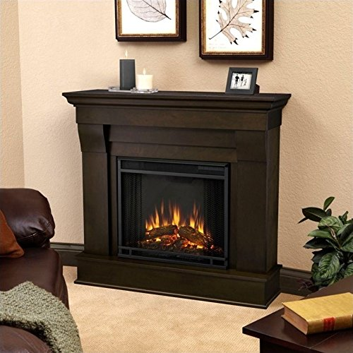 Real Flame 5910E Electric Fireplace, Small, Dark Walnut