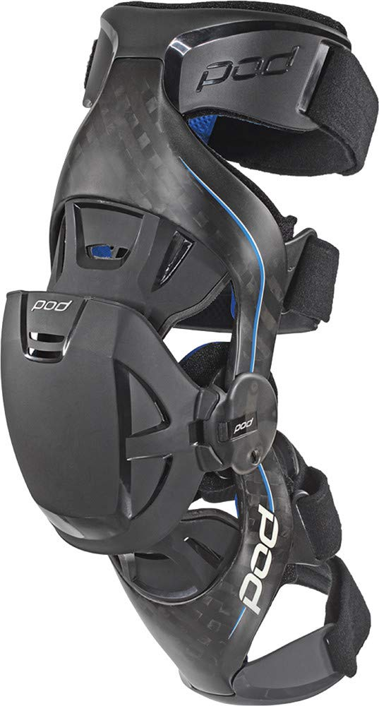 POD Unisex-Adult K8 Knee Brace (Carbon/Blue, X-Large) (Right)