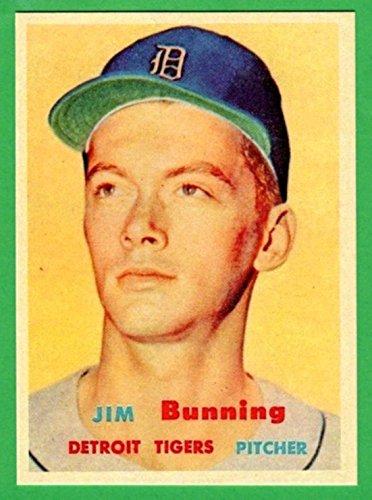 Jim Bunning 1957 Topps Baseball Rookie Reprint Card (Tigers) ()