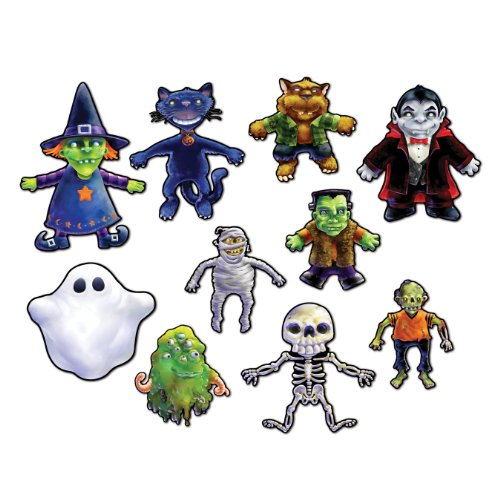 Beistle 10-Pack Halloween Cutouts, 5-1/2-Inch by 10-1/2-Inch -