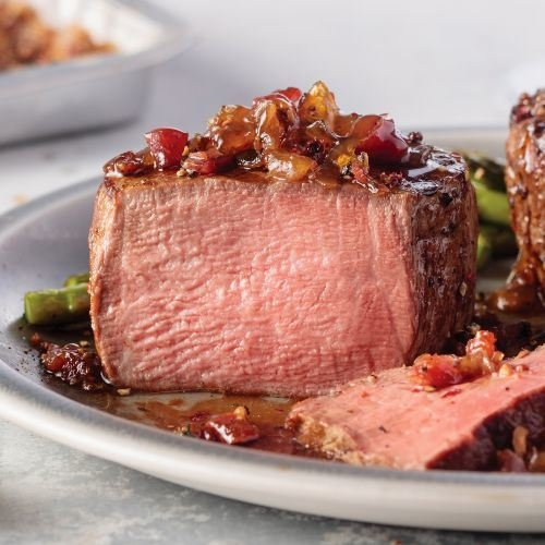 Omaha Steaks Gourmet Grilling Gift Pack Features Filet Mignon, Top Sirloins, Signature Burger, Jumbo Franks and Sweet Bourbon Onions
