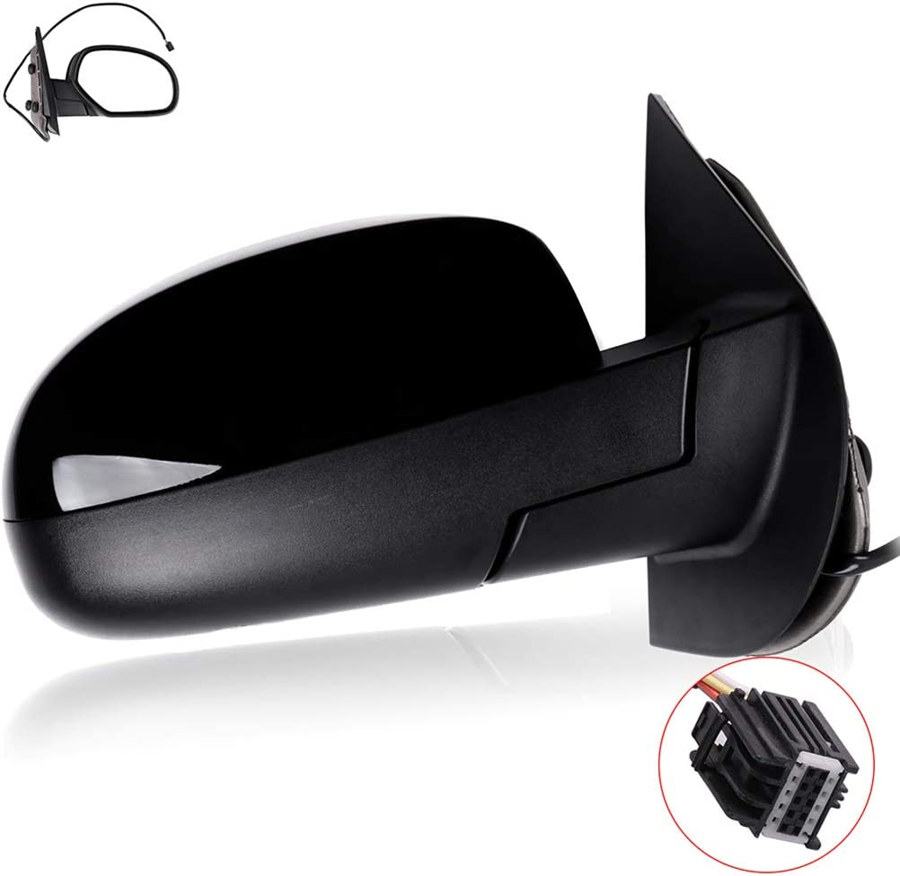 ROADFAR Side View Mirror Fit Compatible with 2007-2013 Chevy Avalanche 1500,2008-2013 GMC Sierra 1500 Right Side Power Heated GM1321325