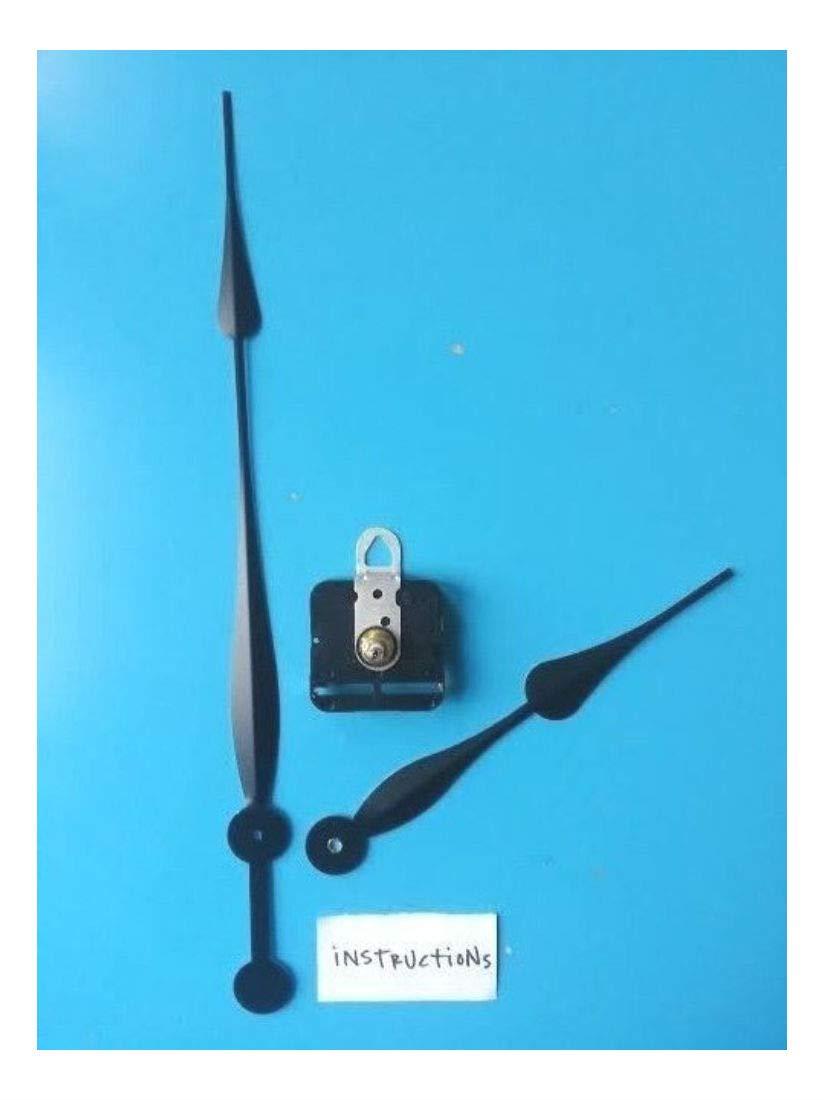 24''+ Dial Diameter Clock Kit! High Torque Movement w/Spade Hands DIY (511-12'')