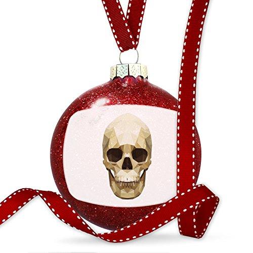 Christmas Decoration Geometric Animal art Skull Ornament by NEONBLOND