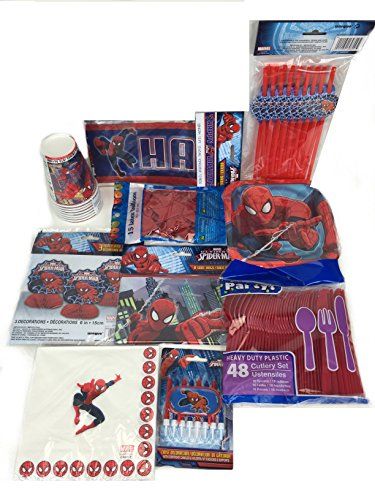 Spiderman Birthday Party Pack