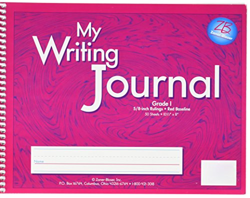 Zaner-Bloser ELP 0601 My Writing Journal for Grade 1, Spiral Bound, 50 Sheets, 10-1/2